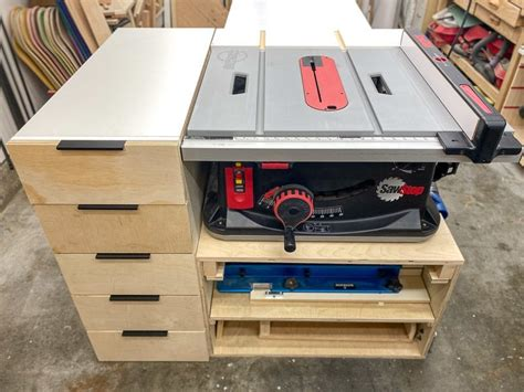 Diy Table Saw Cabinet With Outfeed