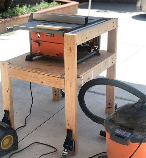 Diy Table Saw Outfeed Stand