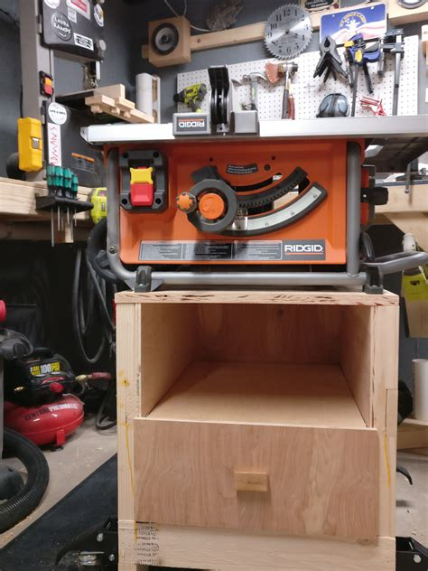 Diy Table Saw Rolling Cart