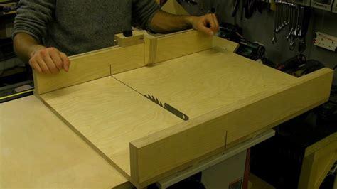 Diy Table Saw Sled With Flip Stop Guide