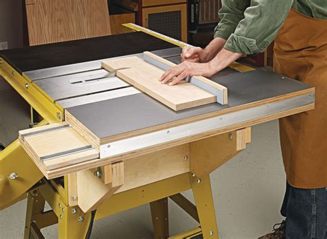 Diy Table Saw Sliding Table Attachment For Table Saw