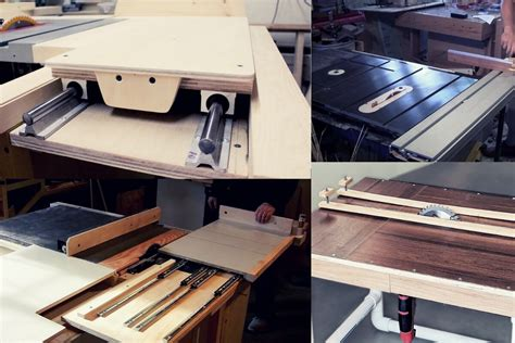 Diy Table Saw Sliding Table Attachment For Table Saws