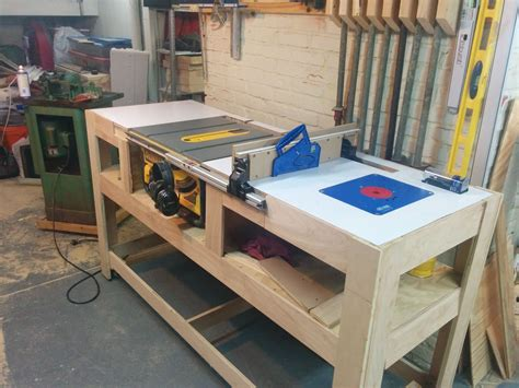 Diy Table Saw Workstation Free Plans