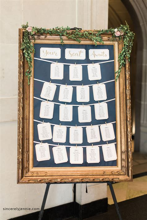 Diy Table Seating Chart