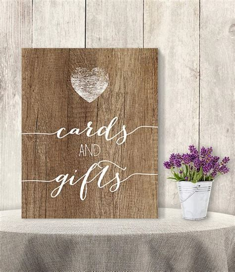 Diy Table Signs Wedding Gifts