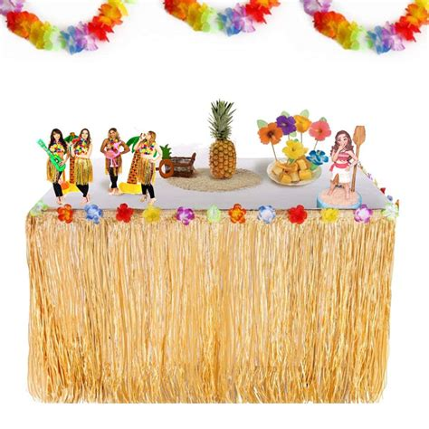 Diy Table Skirt Luau Recipes