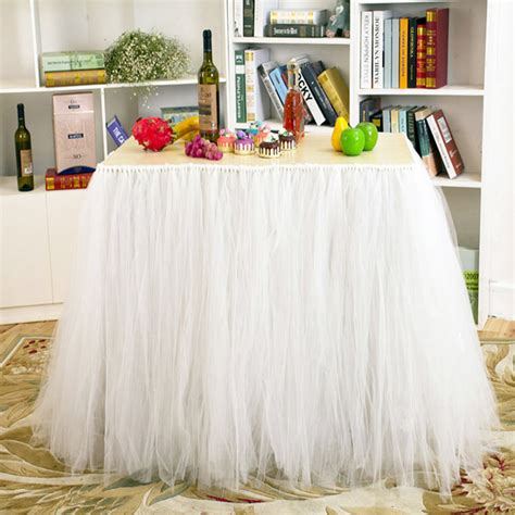 Diy Table Skirt Tulle