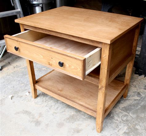 Diy Table With Drawers Building Plans Tutorials