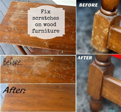 Diy Table Wood Scratches Vinegar