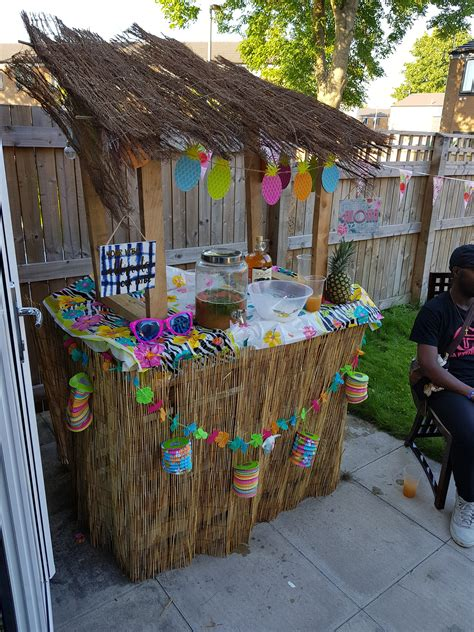 Diy Tabletop Tiki Bar
