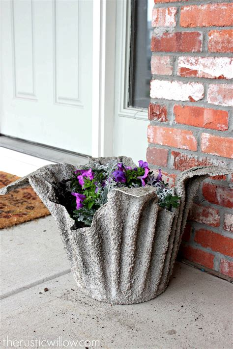 Diy Tall Cement Planters