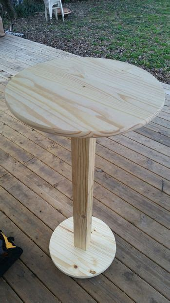 Diy Tall Round Table