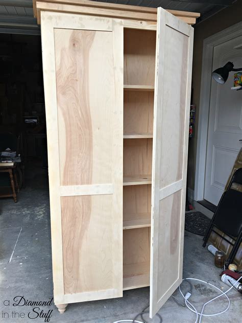 Diy Tall Storage Cabinet Pocket Joint