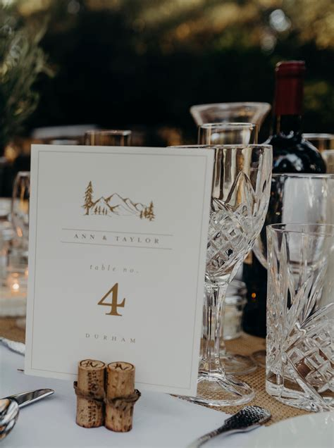 Diy Tall Table Number Holders