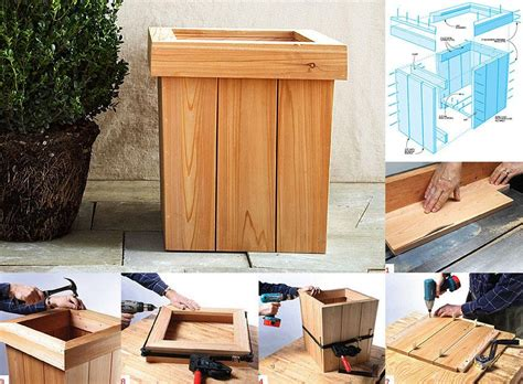 Diy Tapered Planter Box Plans