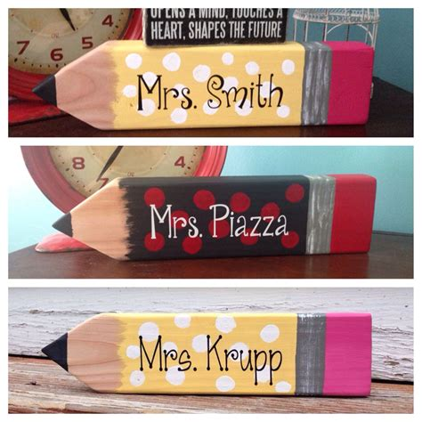 Diy Teacher Name Sign