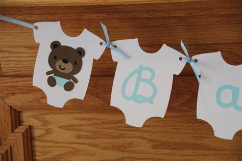 Diy Teddy Bear Baby Shower Banner