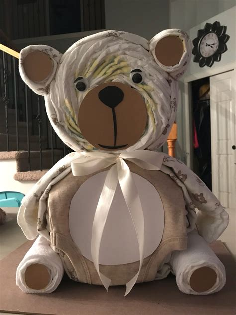 Diy Teddy Bear Diaper Cake