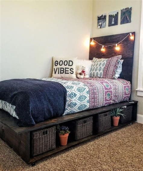 Diy Teen Boy Platform Sotrage Bed