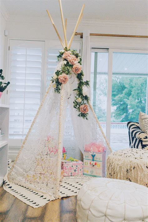 Diy Teepee Decorations Baby Shower