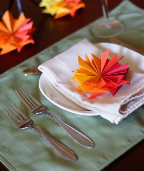 Diy Thanksgiving Table Decorations With Paper