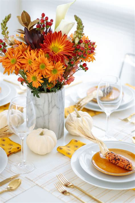 Diy Thanksgiving Table Flowers