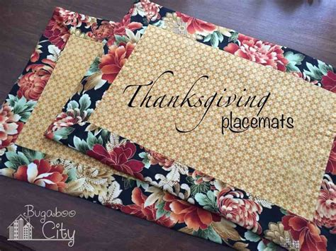 Diy Thanksgiving Table Runners And Placemats