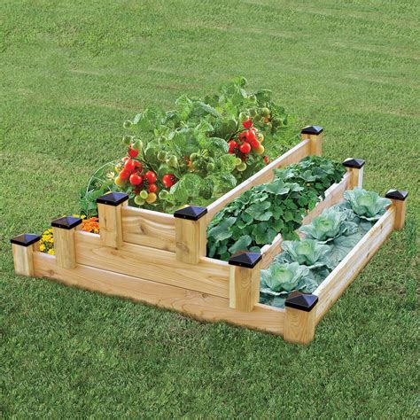 Diy Tiered Flower Bed