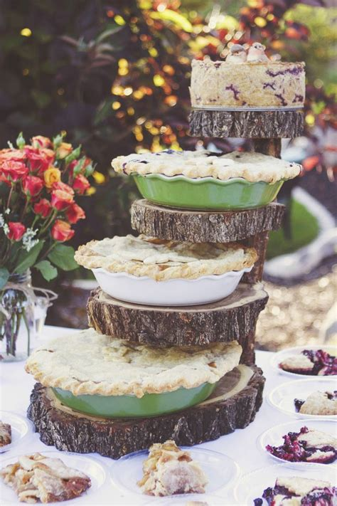 Diy Tiered Pie Stand For Wedding