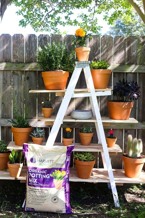 Diy Tiered Plant Stand Youtube