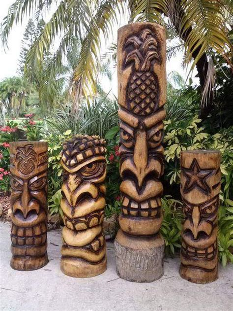 Diy Tiki Gods Wood Art Ideas