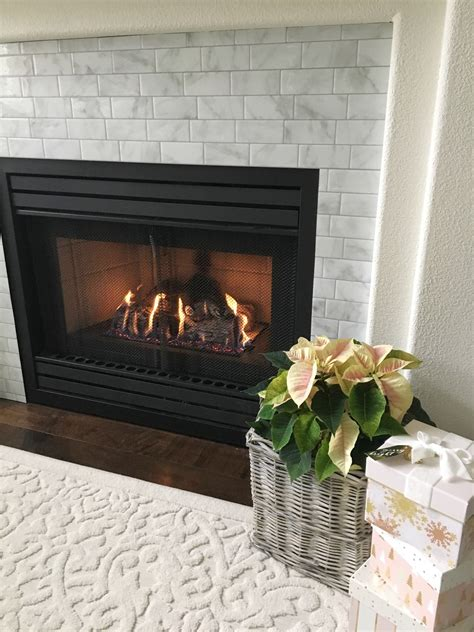 Diy Tile Around Fireplace