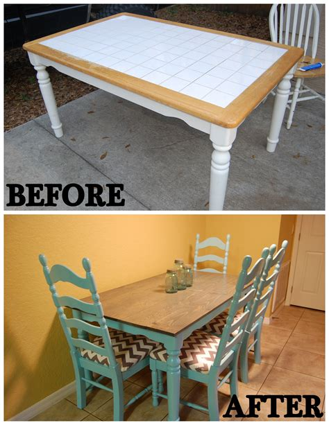 Diy Tile Kitchen Table Top