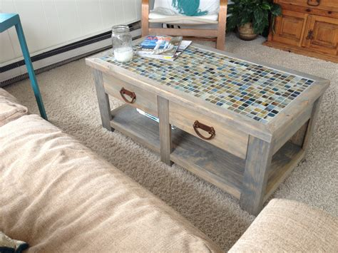 Diy Tile Top Coffee Table