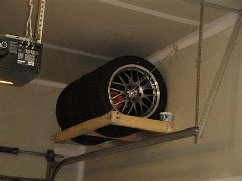 Diy Tire Rack In Garage