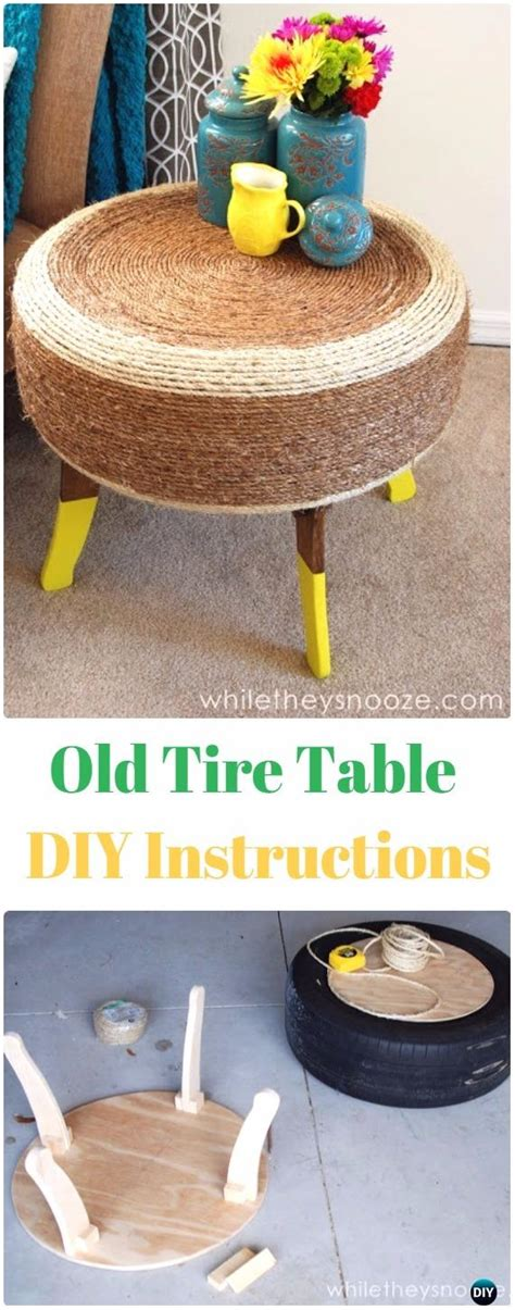 Diy Tire Table Instructions