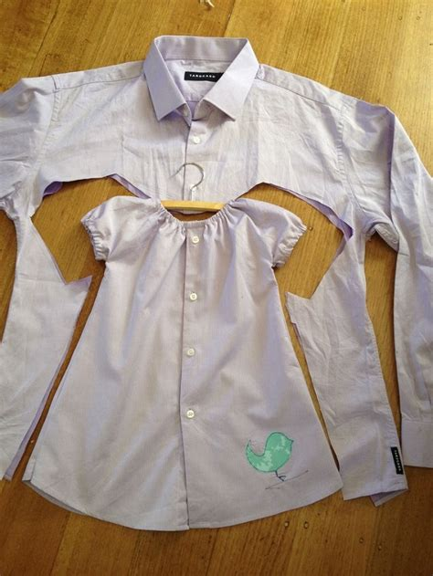 Diy Toddler Dress From A Mens Dress Shirt