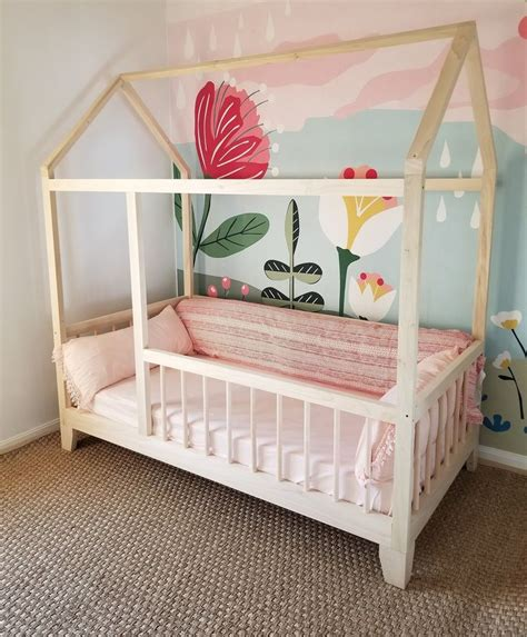 Diy Toddler House Bed With Rails