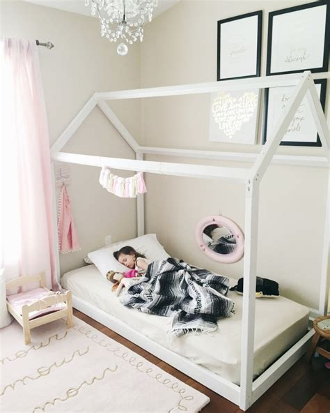 Diy Toddler House Frame Floor Bed