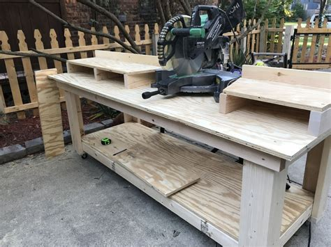Diy Tool Bench With Mitre Saw