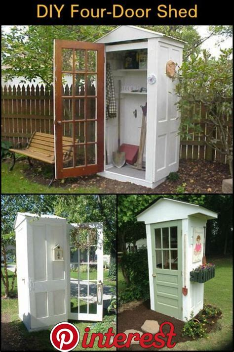 Diy Tool Shed Made From Doors