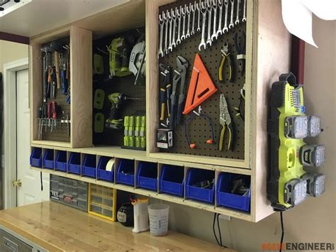 Diy Tool Storage Wall Cabinet Plans