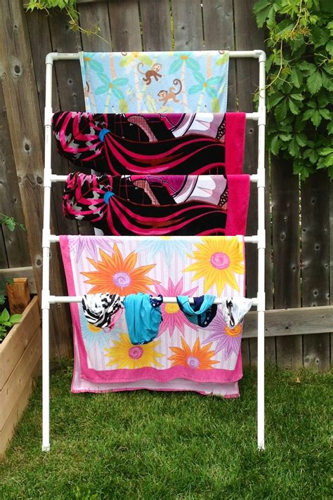 Diy Towel Holder And Dirty Clothes Rack