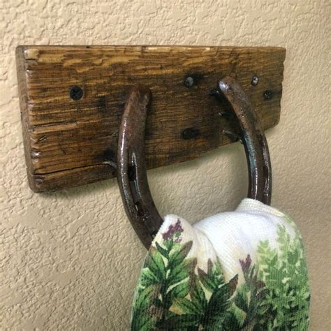 Diy Towel Holder With Horseshoes