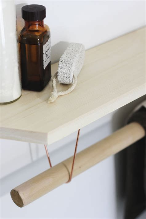 Diy Towel Rack With Marble