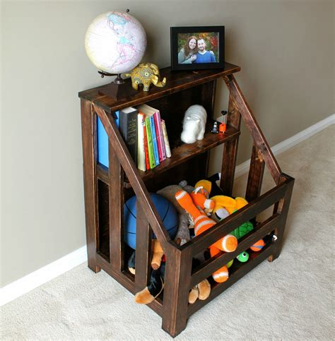 Diy Toy Box With Book Slot