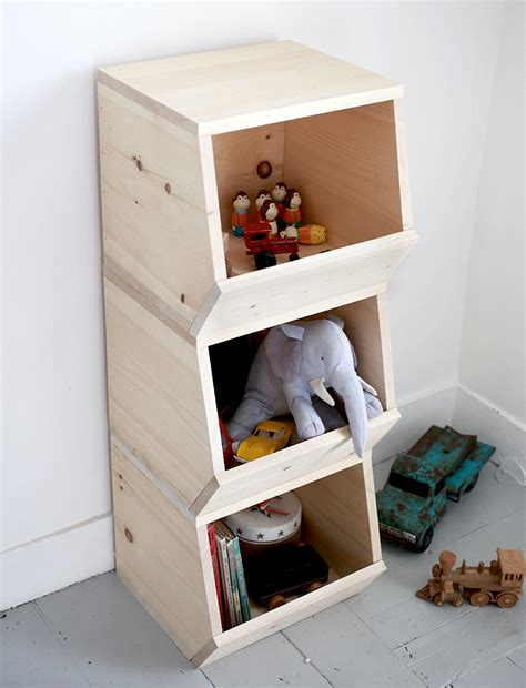 Diy Toy Shelf With Bins