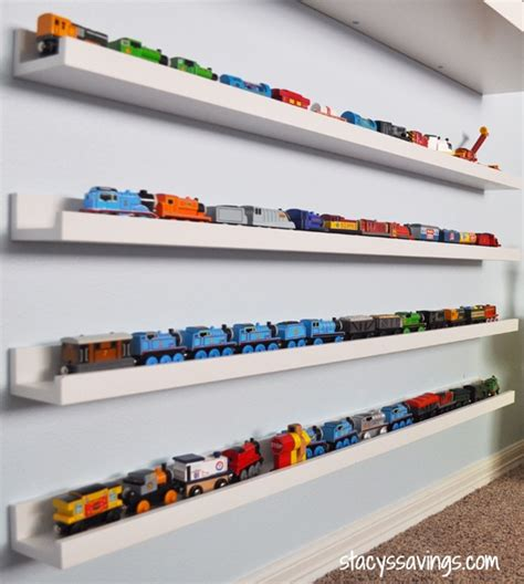 Diy Toy Train Storage Shelf