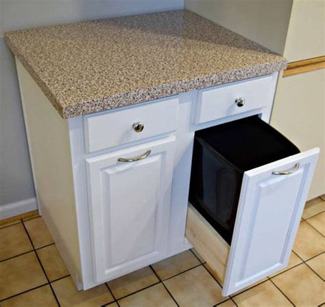 Diy Trash Cabinets For Kitchen