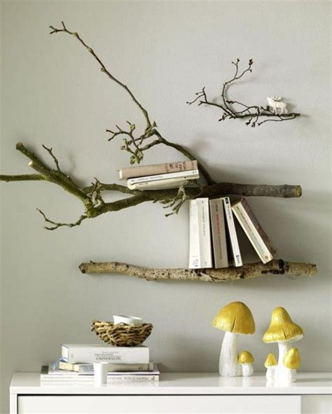 Diy Tree Branch Shelf